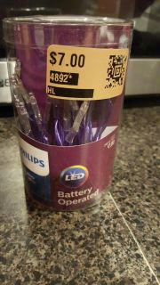 phillips led purple battery operated lights never opened