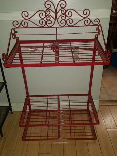 Pan/pot rack with shelving and hooks xl