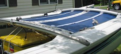 Find Blue trampoline to fit the Hobie Cat 18 motorcycle in Conneaut, Ohio, United States
