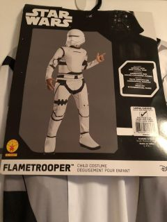 Disney Star Wars Flame Trooper Costume, Size Large 12-14, 8-10 Years, NEW