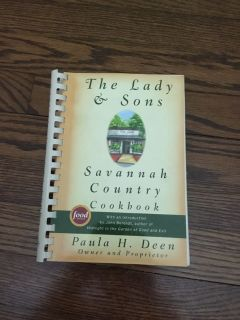 The Lady & Sons Savannah Country Cookbook by Paula Deen. Wonderful recipes!! Comfort food!! Gallatin unless going to H ville.