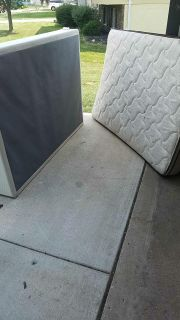 Free full size box spring and mattress