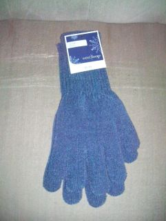 NEW With Tags Womens Soft CHENILLE Gloves (Blue)