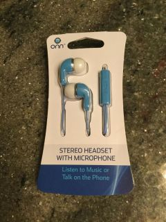 Stereo Headset with Microphone ~ NEW**