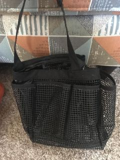 Mesh tote with holes