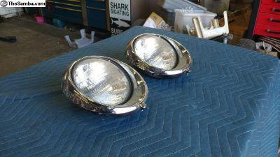 Vintage Bug 12v Metal Rossi Headlights