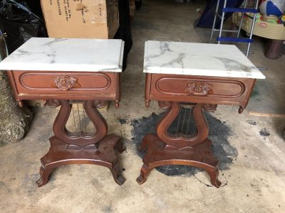Antique Style End Tables (1950s) - set of 2