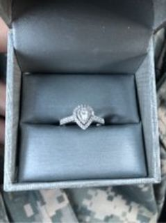 1/2CT 14K White gold size7 wedding ring