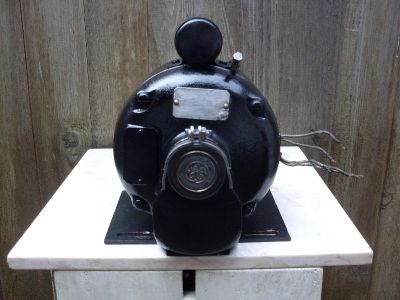 VINTAGE General Electric Motor - 3/4 HP AC Motor DUAL 115V ( OR ) 230V -- 1725 Rpm , Antiques & Collectibles