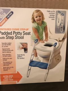 Toddler Padded Potty Seat / Step Stool