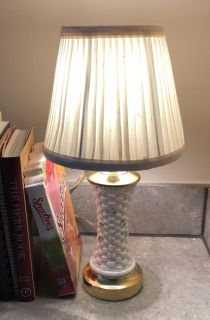 Antique Belleek Lamp With Shade.