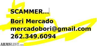 For Sale: Bori Mercado-SCAMMER Buyer beware