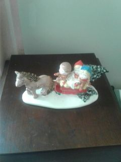 Vintage christmas horse and sleigh