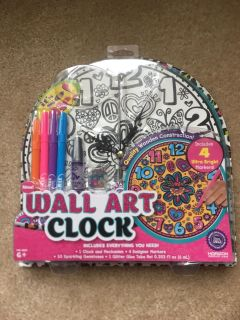 New in package never opened wall art clock