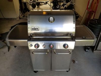 Stainless Weber Gas Grill