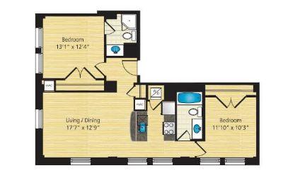 $8280 2 apartment in Dupont Circle