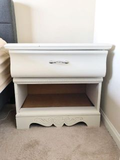 White wooden nightstand - good condition