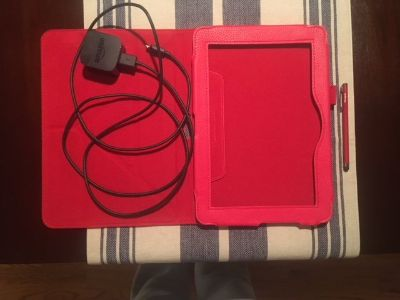 Kindle Tablet leather case, Amazon Rapid Charger and Stylus ALL for $20.00