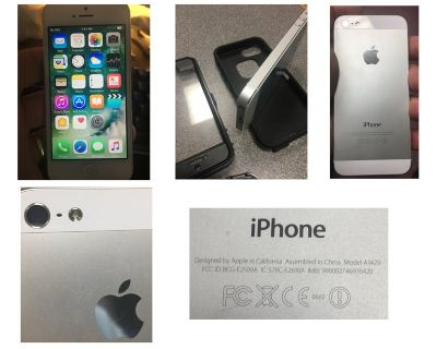 iPhone 5 64GB mint condition with free Otterbox type case and new wall charger + USB cable