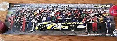 The Class of 2006 Goodyear Nascar Drivers - 34In x 11in poster mint