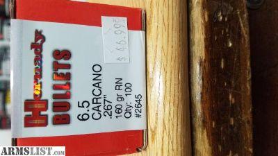 For Sale/Trade: Hornady 6.5 Carcano Bullets
