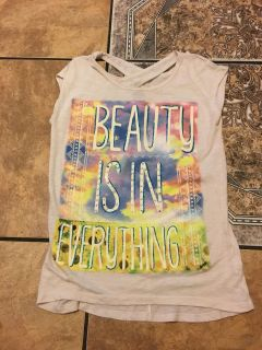 Justice beauty top size 12