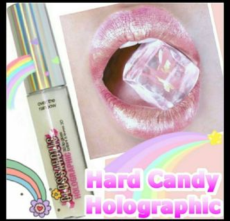 New Hard Candy Holographic Glossaholic Lip Gloss in Over The Rainbow