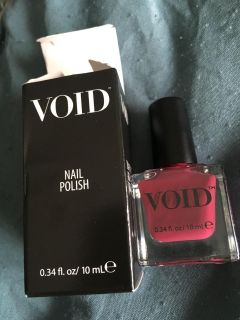 Void brand polish in a purplish berry shade. New unopened. Was a gift and daughter didn t want