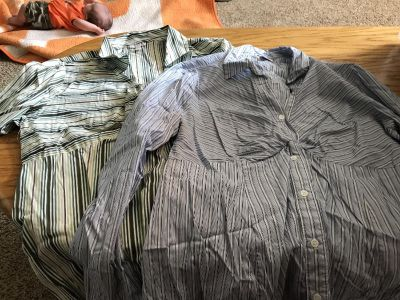 Maternity button downs