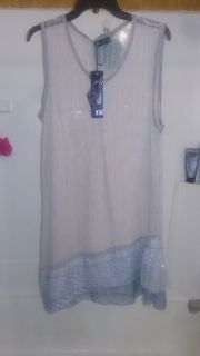 NWT Ladies Gray Tunic/Midi Size XL