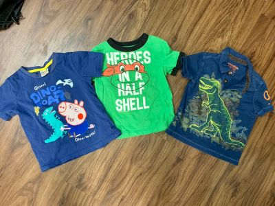 Baby boy shirts Peppa Pig Ninja Turtles