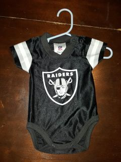 Raiders baby Jersey 0 to 3 months