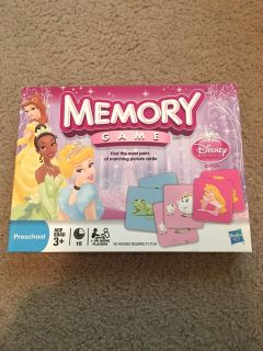 Princess Memory game. Has all pieces and is in great condition. Like new. Asking $4