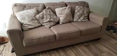 Sofa 3 seater Fabric with heavy woodeb frame