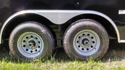 8.5 x 28 Enclosed Cargo Trailer Flat Nose 5200 lb axles