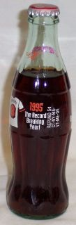 COCA COLA CAL RIPKEN 1995 RECORD BREAKING YEAR SEALED BOTTLE CONDITION