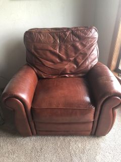 Leather Electronic Recliner - FREE!