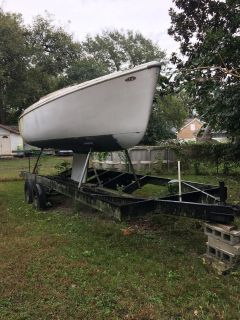 Project Sailboat and trailer