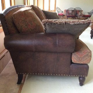 Living room couch, chair and ottoman