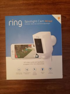 Ring Spotlight camera wired sealed $150 firm