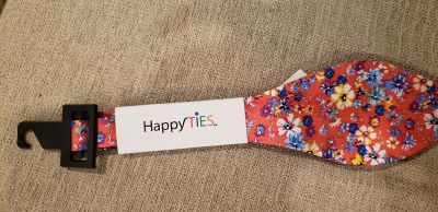 Happy Ties Salmon Floral Bow Tie. New With Tags.