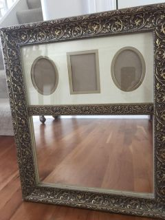 Gold picture frame/mirror