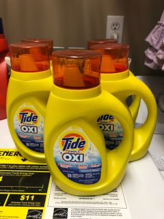 New tide with oxi liquid (5 total bottles)