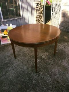 Antique Dining Table on Wheels