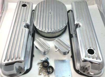 Sell SB Ford SBF Finned Polished Aluminum Tall Valve Cover Kit 260 289 302 351W V8 motorcycle in Chatsworth, California, United States, for US $149.99