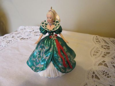 Holiday Barbie Ornament - Great for Little Girls Christmas Tree