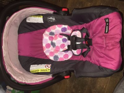 Infant girl Car seat with base