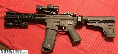 For Sale: Custom Built AR15 Pistol 7.5 inch