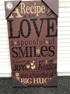 Love and Smiles Sign