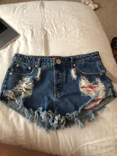 jean shorts with tags from Lizard Thicket